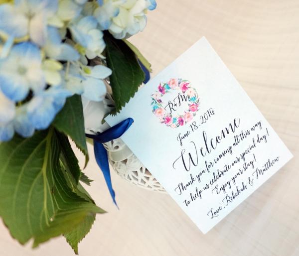 Custom Wedding Welcome