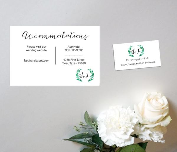 Custom Wedding Enclosure Card