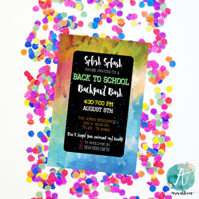 Host a Back To School Party With A Splash