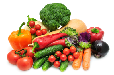 arrangement of vegetables