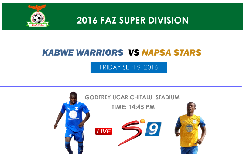 Warriors face NAPSA Stars in Week 25 Live on Supersport