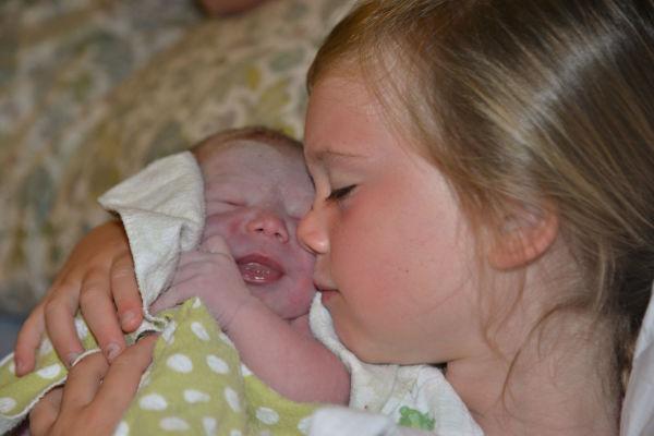 Siblings at birth- San Diego Home Birth