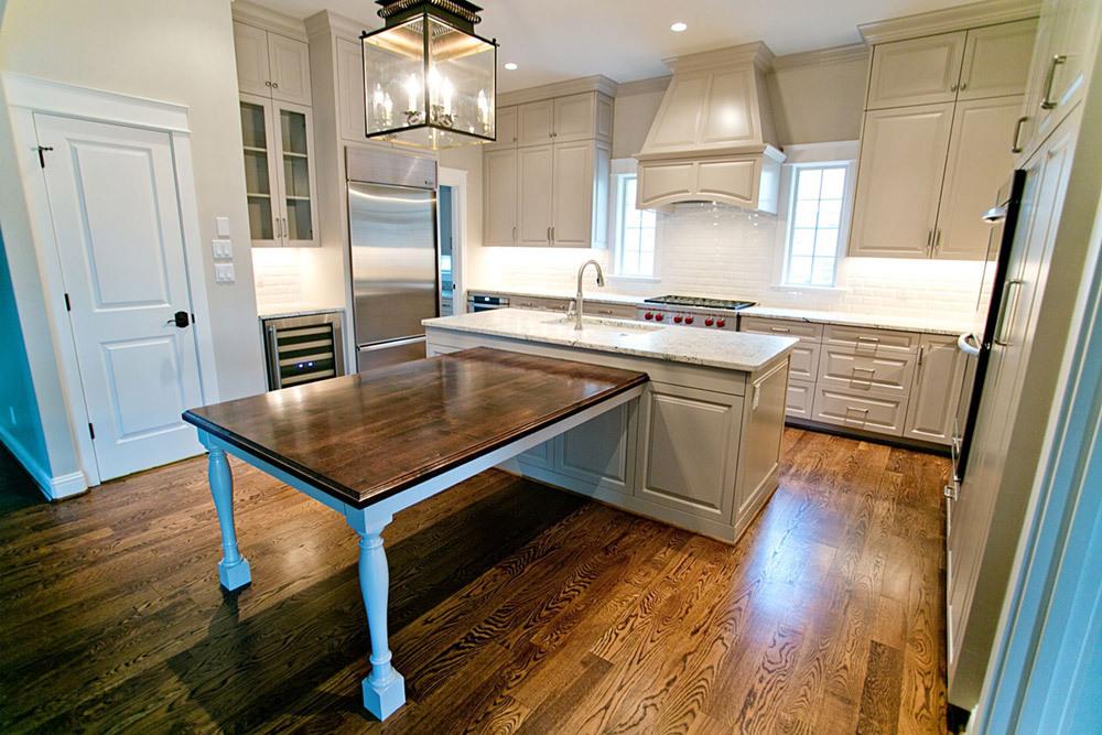 kitchen remodel, kitchen, cabinets, island, wood floor
