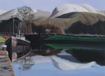 Ben Nevis Rudy Vandecappelle rmvportraitsart oil painting for sale