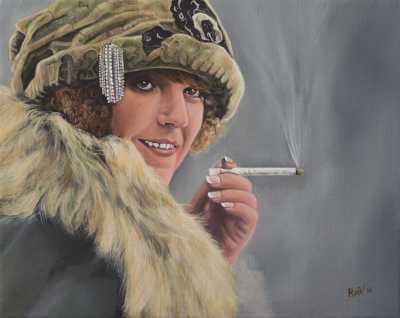 Sigrid Holmquist Rudy Vandecappelle rmvportraitsart oil painting for sale