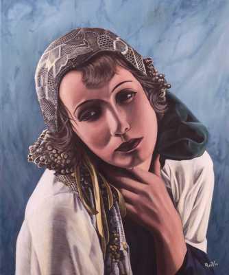 Greta Garbo Rudy Vandecappelle rmvportraitsart oil painting for sale