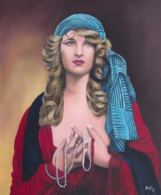 Ziegfeld Myrna Darby Rudy Vandecappelle rmvportraitsart oil painting for sale