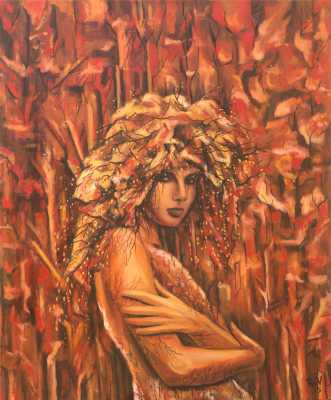 Four Seasons - Autumn Rudy Vandecappelle rmvportraitsart oil painting for sale