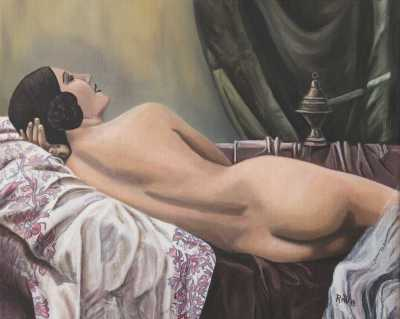 Nude Rudy Vandecappelle rmvportraitsart oil painting for sale