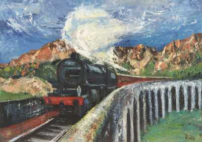 Jacobite steam train over Glenfinnan viaduct Rudy Vandecappelle rmvportraitsart