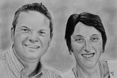 Rudy Vandecappelle, RmV Portraits Art, portraits, oil painting, commission, gift, birthday, Christmas, New Year, parents, children, grand parents, dry brush, people, animal, pet, dog, cat, hrse, donkey, mule