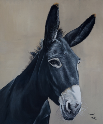 Rudy Vandecappelle, RmV Portraits Art, portraits, oil painting, commission, gift, birthday, Christmas, New Year, parents, children, grand parents, dry brudh, people, animal, pet, dog, cat, hrse, donkey, mule