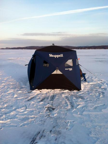 Ice fishing Chautauqua Lake