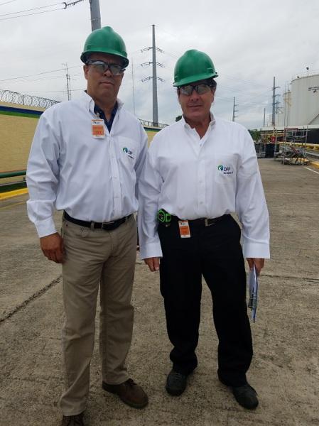 Michael Clark and Jose surveying Power Plant