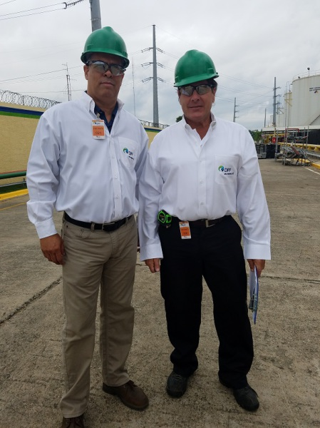 Michael Clark and Jose surveying Power Plant