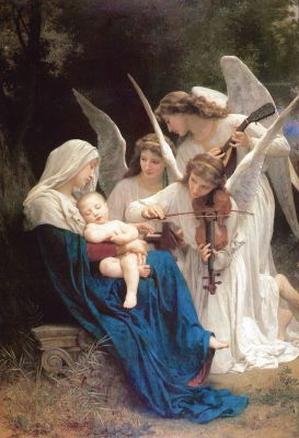 Song of the Angels painting public domain
