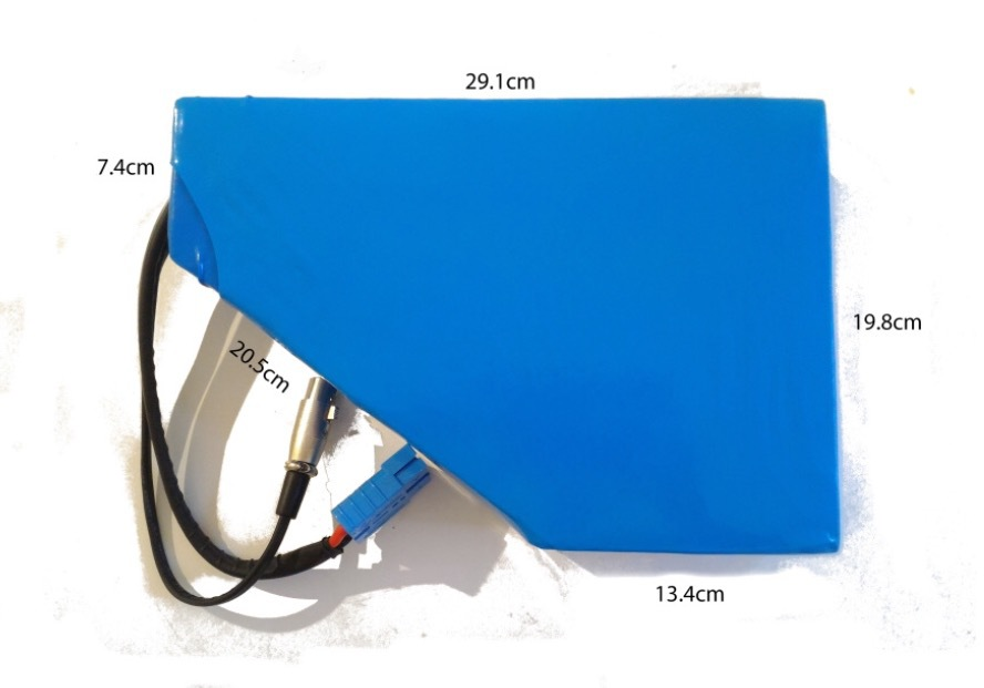 52v 16.5 ah  triangle battery pack