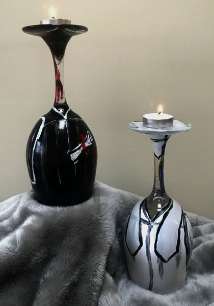 Graduation Candle Holders