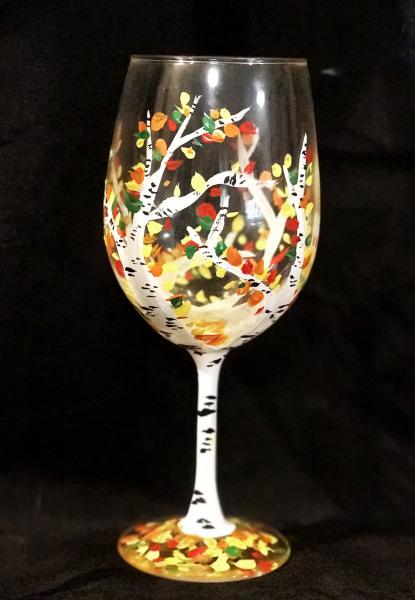 Fall Birch Glass
