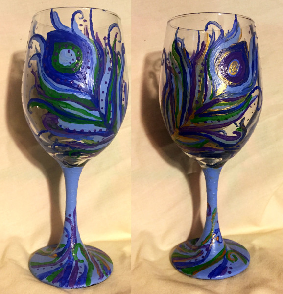 Peacock Feather Glass