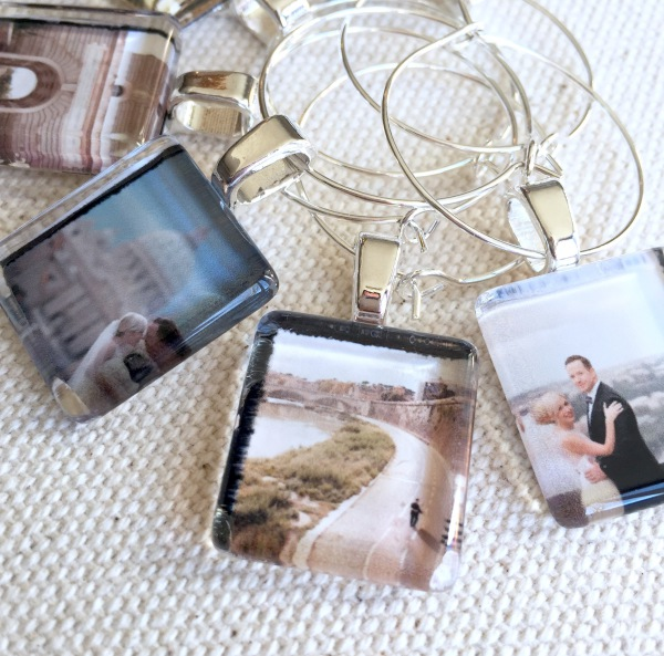 Photo Glass Wine Charms