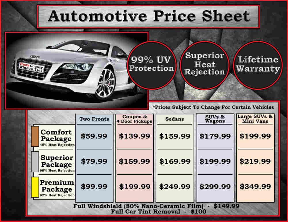 Window Tint Prices