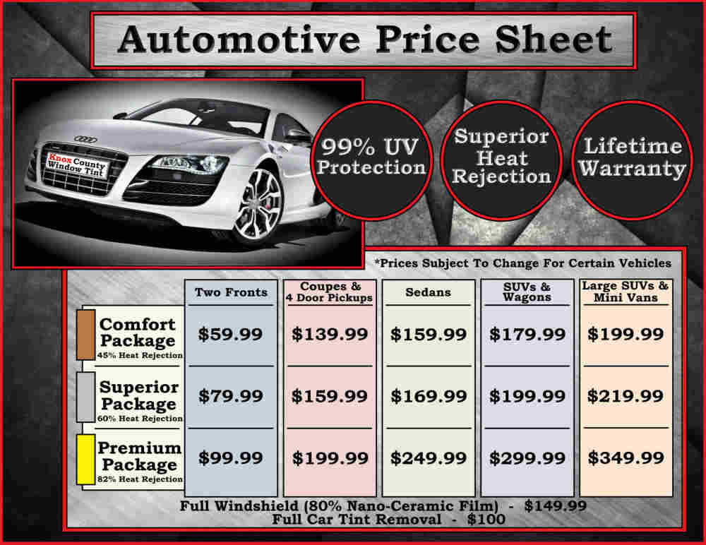 Window Tint Prices