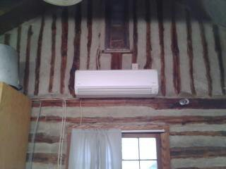 Fujitsu Ductless Mini Split in Log Cabin, We install Fujisu  33 seer systems