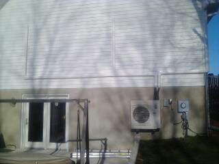 Ductless Outdoor Unit, We install Fujisu  33 seer systems