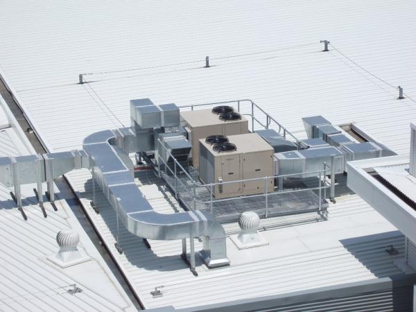 Hvac system rooftop