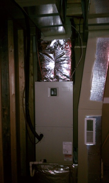Furnace in basement