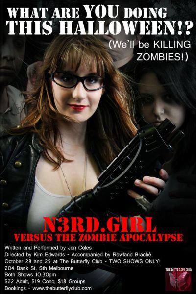 N3rd.Girl Vs. The Zombie Apocalypse Poster