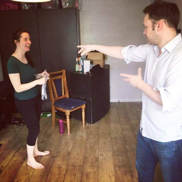Rehearsal Photo from It's Only Murder