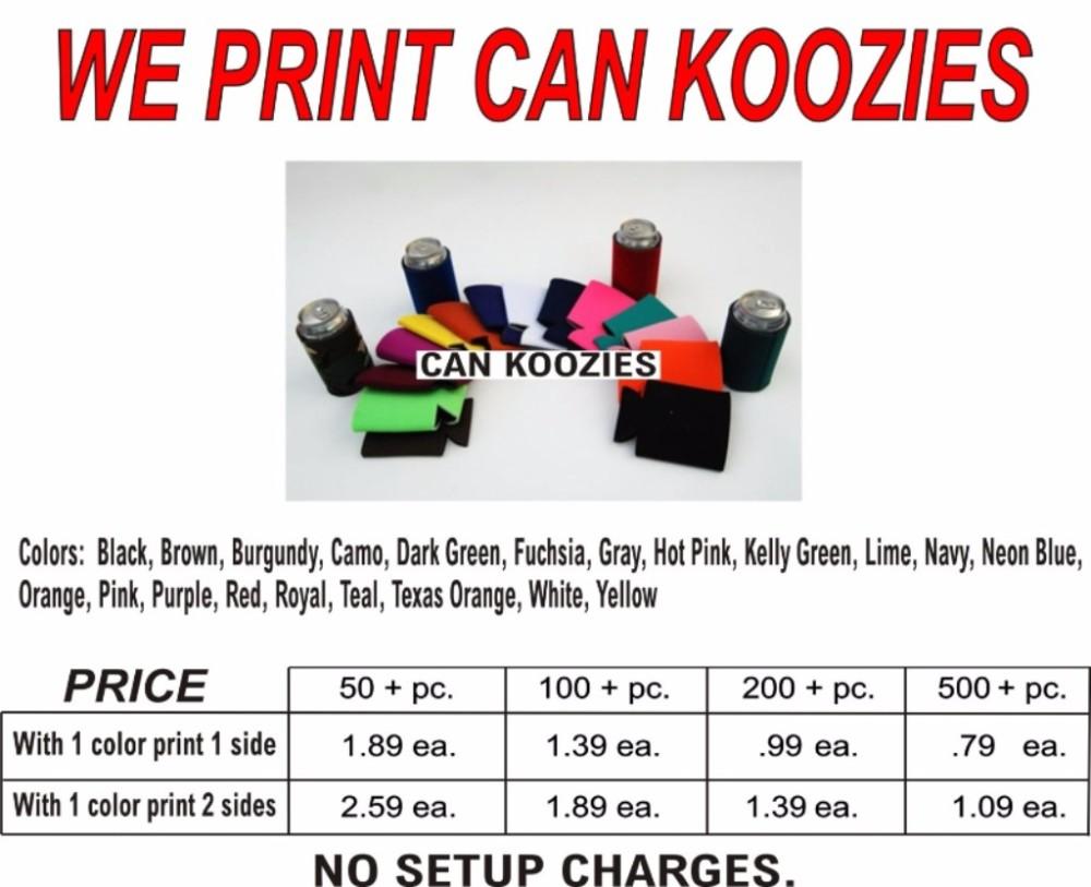 Printed Koozies