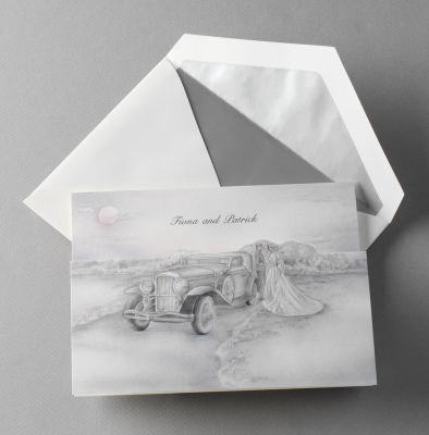 Our custom wedding invitations will be personalized to you and your big day