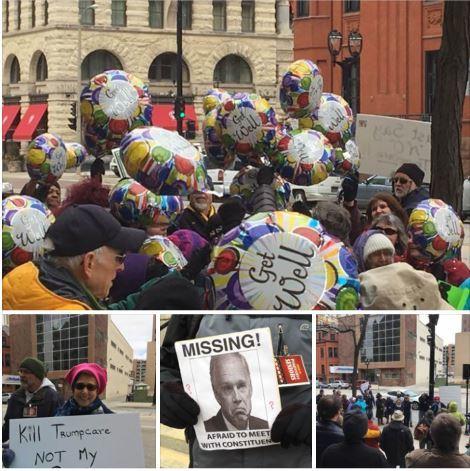 Seniors Rally at Johnson's Office
