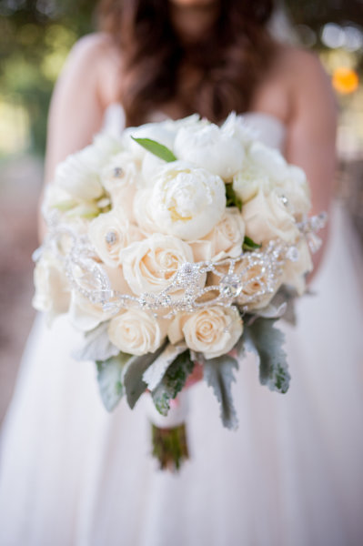 Bridal Bouquet with a Bling Bling touch!