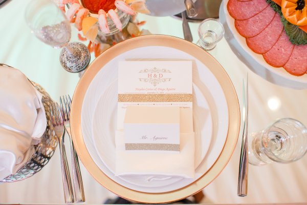 Gold, pink, ivory...just love the blend!