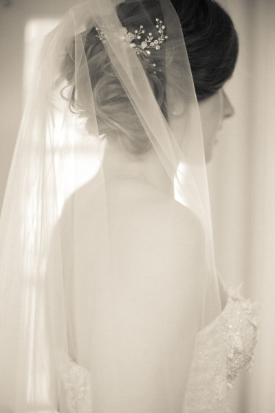 Beautiful Bride- The simplicity of the veil makes it perfect!