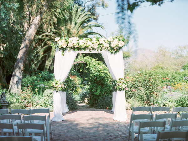 Look at that Chuppah at  McCorminck Home Ranch Garden