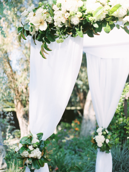 Amazing Chuppah with Magnolias - McCorminck Home Ranch
