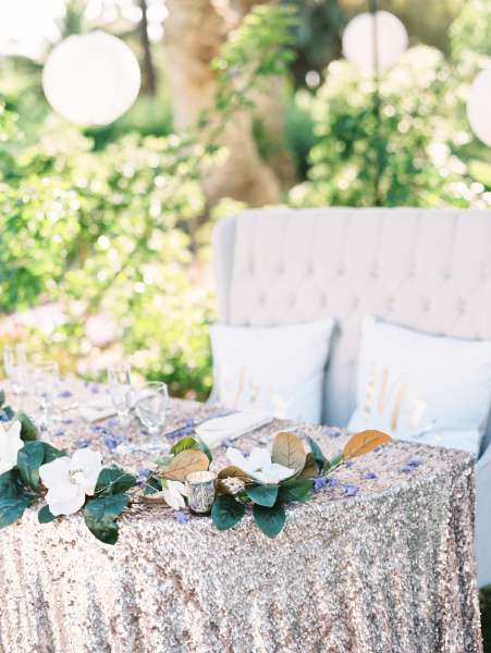 Sweetheart Table and Ivory Loveseat