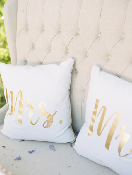 "Because there is always space for some cute ""Mr & Mrs"" cushions!!"