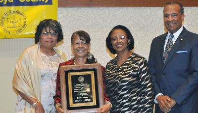 Mrs. Palmer receives Nannie Hairston award