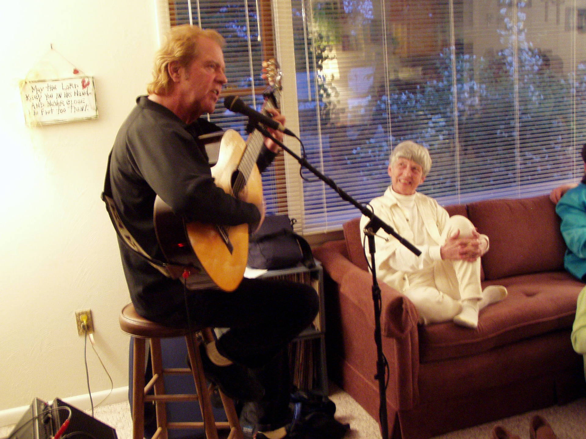 Gayle enjoying our favorite musician