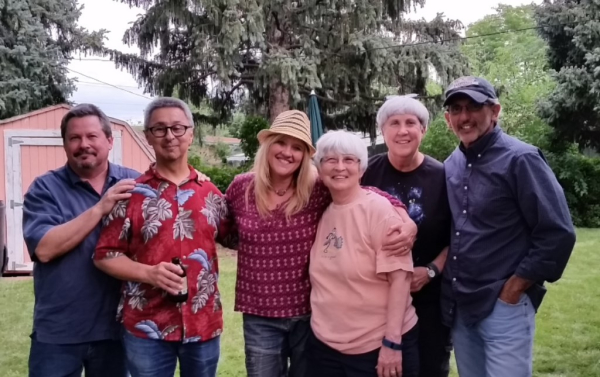 Tony, Ernie, Mary, Gayle, Corlie & Don after the show