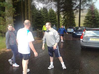 Training in the rain 2008