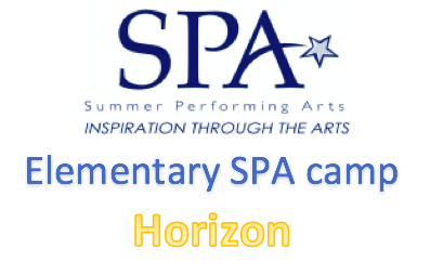 Horizon Elementary SPA Camp