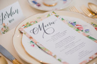 Floral Stationery and Place Setting for Spring Wedding