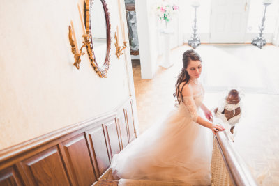 Bride at Vintage Blush Wedding in Spring